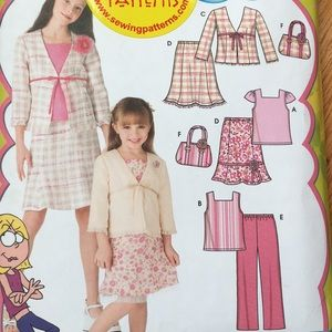 Girl skirt set sewing pattern